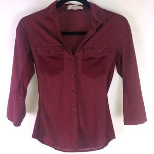 Love Tree | Women's Button Up Red Size Small EUC
